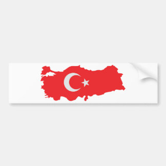 Turkey contour flag icon bumper sticker