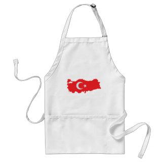 Turkey contour flag icon standard apron