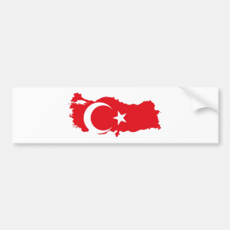 turkey country flag map shape symbol silhouette bumper sticker