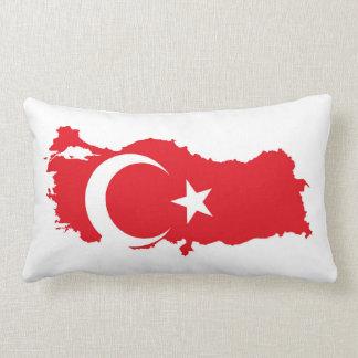 turkey country flag map shape symbol silhouette lumbar cushion