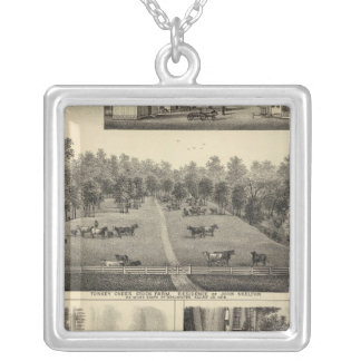 Turkey Creek Farm, Nebraska Silver Plated Necklace