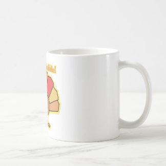 Turkey Cute Cartoon Gobble Thanksgiving Design Mugs