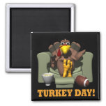Turkey Day Square Magnet
