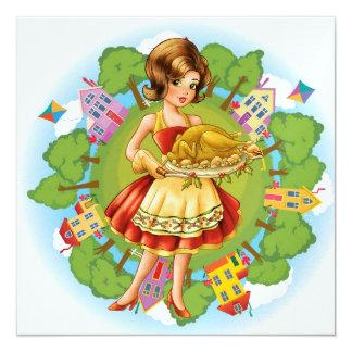 Turkey Dinner - Thanksgiving - Christmas - SRF Card