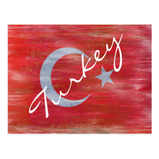 Turkey distressed Turkish flag Postcard