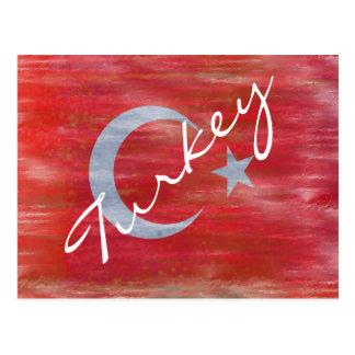 Turkey distressed Turkish flag Postcard
