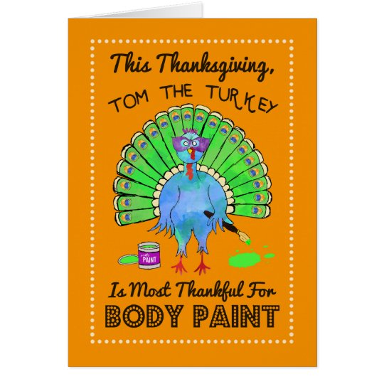 Turkey Dressed As A Peacock Funny Thanksgiving Card