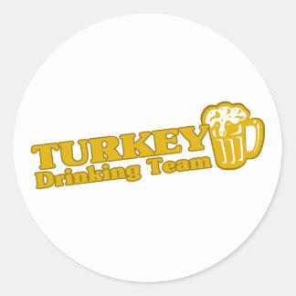 Turkey Drinking Team Sticker