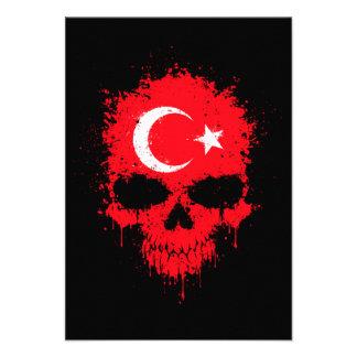 Turkey Dripping Splatter Skull Invites
