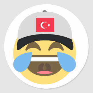 Turkey Emoji Baseball Hat Classic Round Sticker