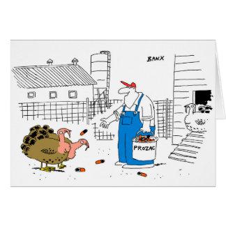 Turkey farm Christmas card
