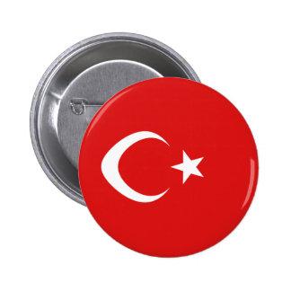 Turkey Fisheye Flag Button