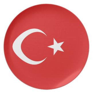 Turkey Fisheye Flag Plate