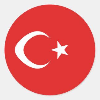 Turkey Fisheye Flag Sticker