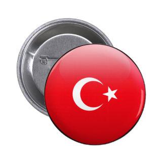 Turkey Flag 6 Cm Round Badge