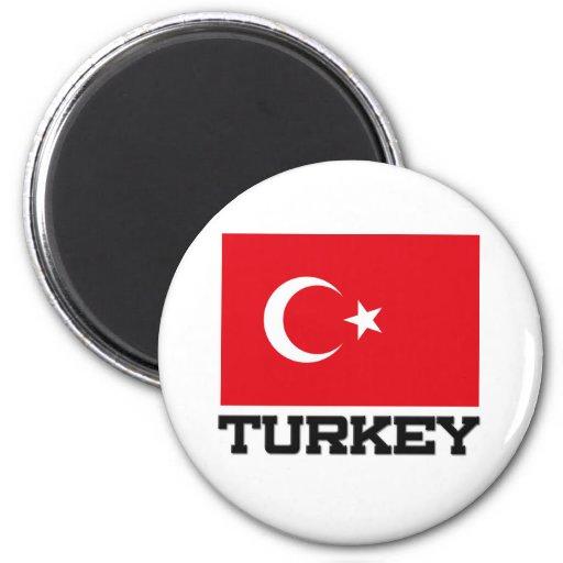 Turkey Flag 6 Cm Round Magnet