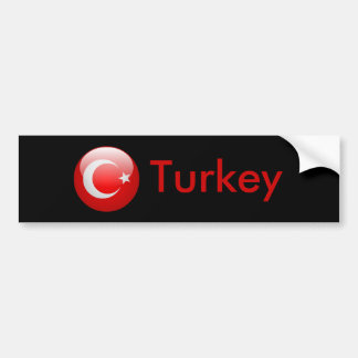Turkey Flag Bumper Sticker