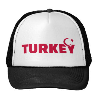 Turkey flag crescent star mesh hats