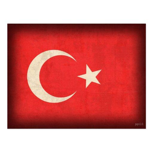 Turkey Flag Distressed Postcards