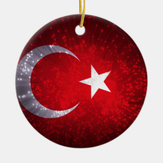 Turkey Flag Firework Christmas Ornament