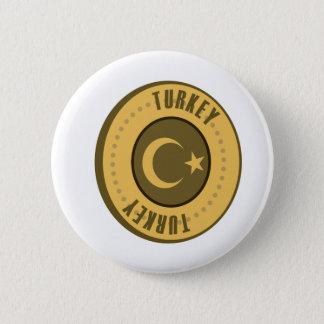Turkey Flag Gold Coin 6 Cm Round Badge
