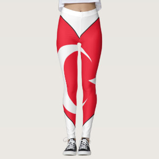 Turkey Flag Heart Leggings