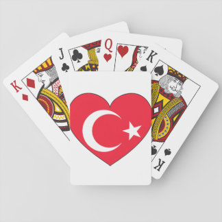 Turkey Flag Heart Playing Cards