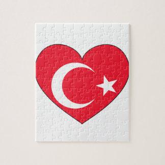 Turkey Flag Heart Puzzle