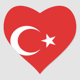 Turkey Flag Heart Sticker