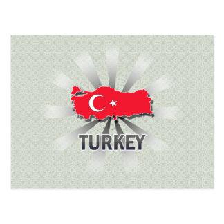 Turkey Flag Map 2 0 Post Card