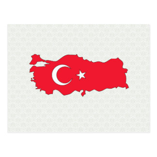 Turkey Flag Map full size Postcard