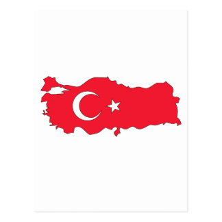 Turkey flag map postcard