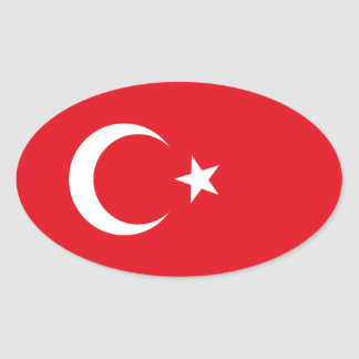Turkey Flag Oval Sticker