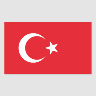 Turkey Flag Rectangular Sticker