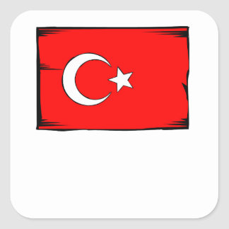 Turkey Flag Square Sticker