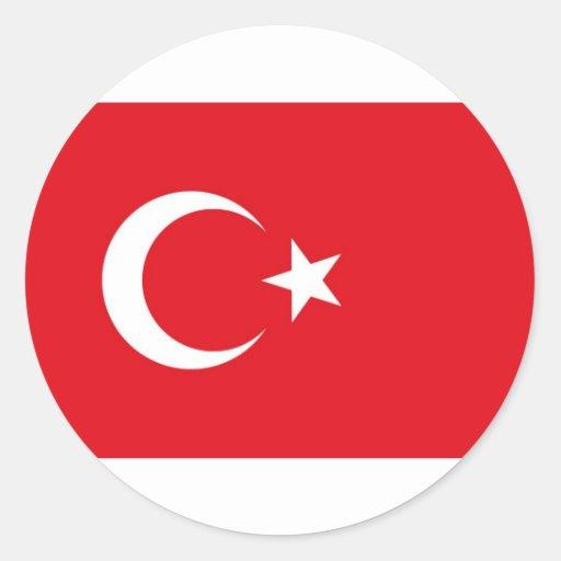 Turkey Flag Round Sticker