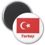 Turkey Flag with Name Fridge Magnets