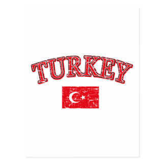 Turkey football design postcard