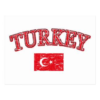 Turkey football design postcards