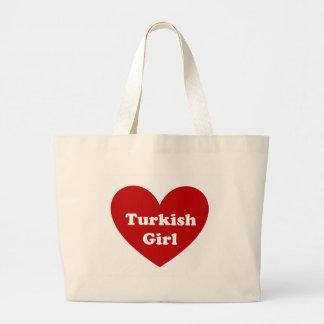 Turkey girl jumbo tote bag