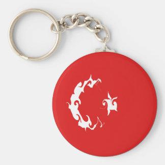 Turkey Gnarly Flag Basic Round Button Key Ring