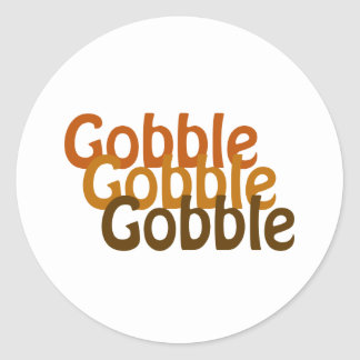 Turkey Gobble Classic Round Sticker