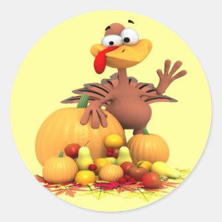 Turkey Greetings Classic Round Sticker
