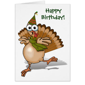 Turkey Happy Birthday Card