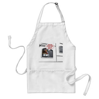 turkey hiding in oven thanksgiving apron