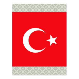 Turkey High quality Flag Postcard