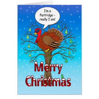 Turkey in a Pear Tree Card