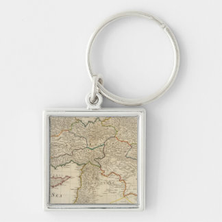 Turkey in Asia 5 Silver-Colored Square Key Ring