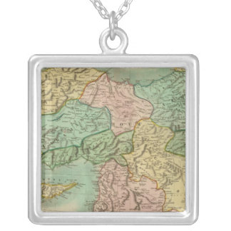 Turkey in Asia 5 Silver Plated Necklace