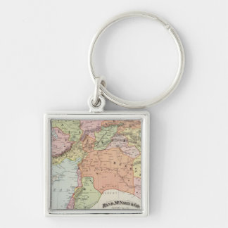Turkey in Asia 6 Silver-Colored Square Key Ring